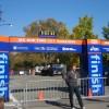 Zieleinlauf am Vortag des Marathon